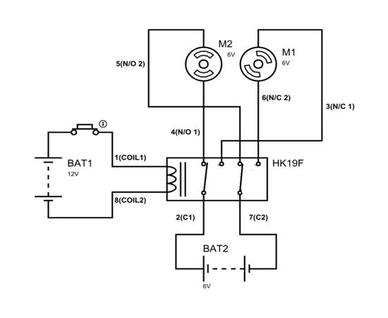 12vdc dpdt relays wiring diagrams