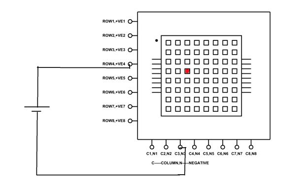 dot matrix led display project for an 8x8 or 5x7 led matrix