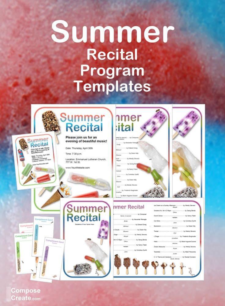 music recital program templates free xv-gimnazija