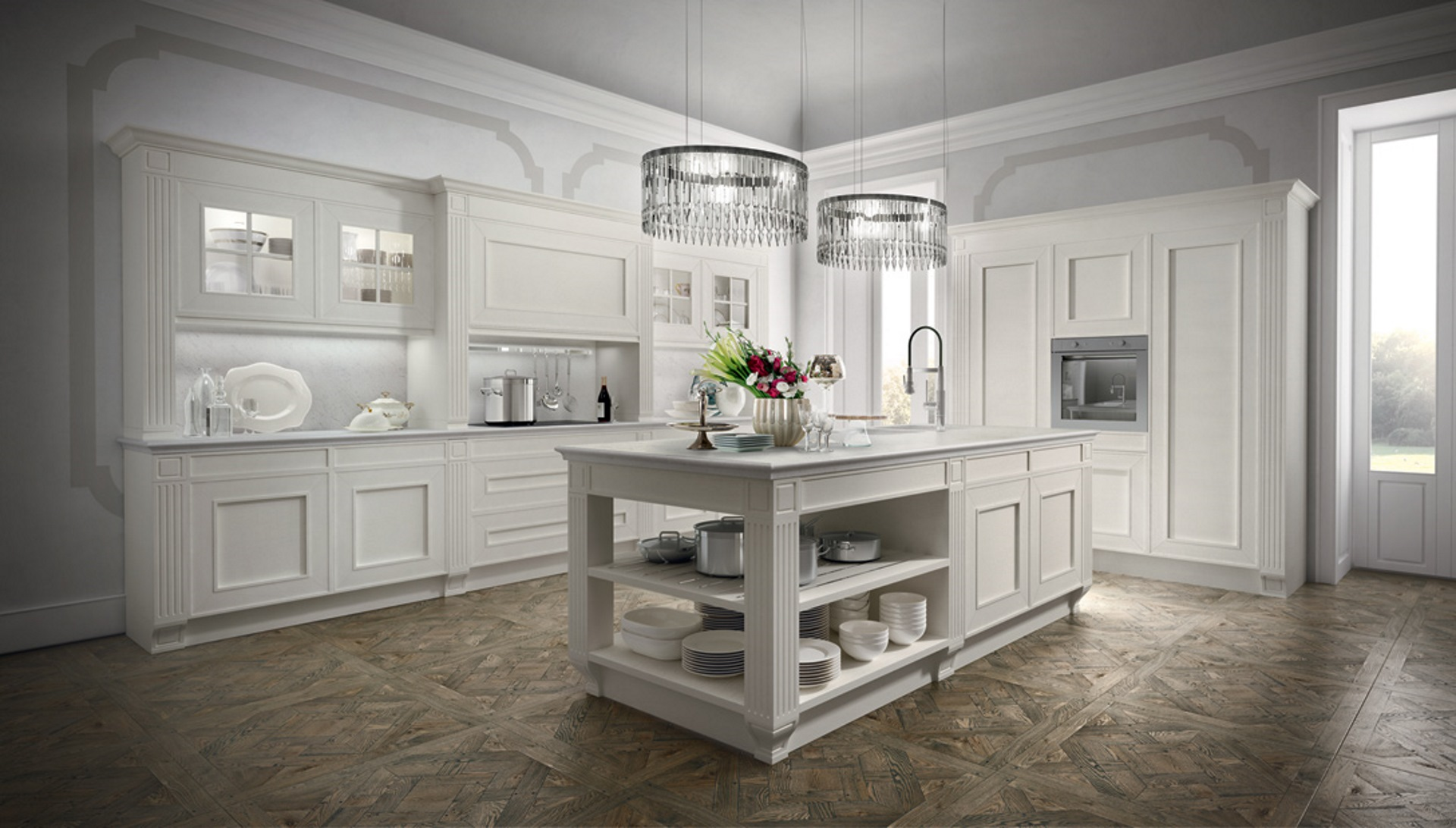 Classical Kitchens Melograno Classic Style Modular Kitchen Composit Kitchen