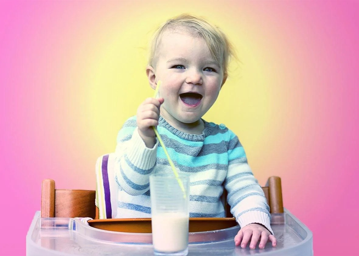 Infant Baby Not Drinking Milk Is Cow S Milk Healthy For Kids Or Should Kids Drink Almond