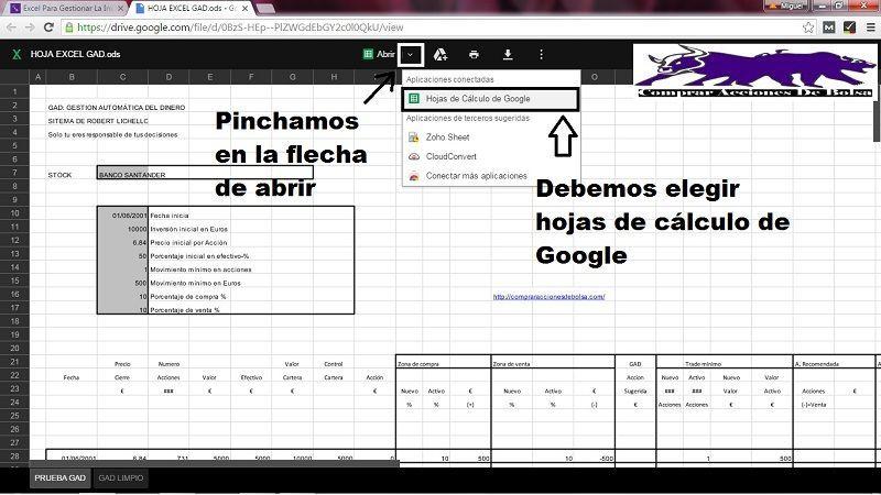 Hoja de Excel para el GAD Tutorial de Uso Miguel Caballero