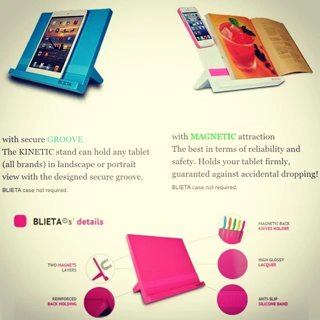 Kinetic stand!! Perfect to have a eye level stand for your tablet! You can now buy it in just type on the search bar.