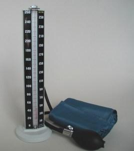 Imagen de un tensiómetro de barra de mercurio