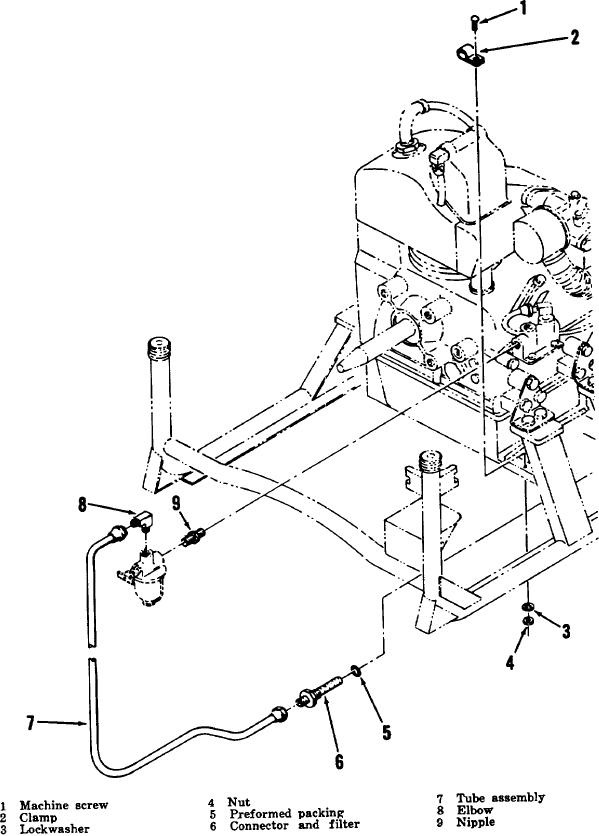 Figure 2-4 Engine accessories, exploded view