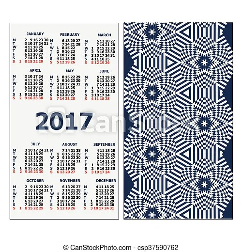 2017 pocket calendar template calendar grid vertical clip art