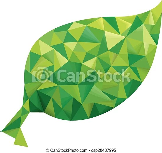 Abstract leaf geometric design Illustration of an abstract eps