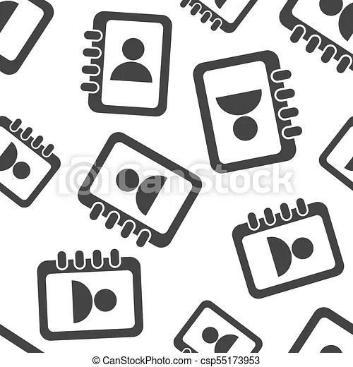 Address book seamless pattern background business flat clipart