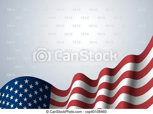 American flag background American flag, for presidential election