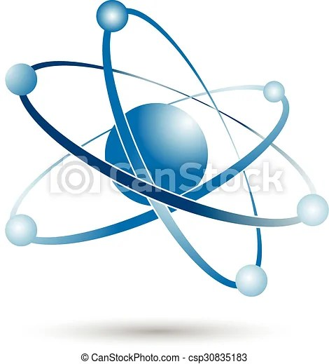 Atom or molecule icon sign vector  - molecule vs atom