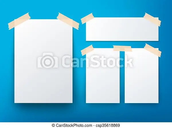Blank flyer template over blue background vector clip art vector - free blank flyer templates