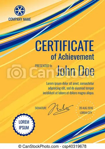 Certificate template diploma vector layout Certificate of - certificate layout