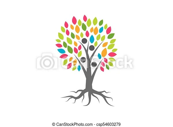 Family tree logo vector template vectors illustration - Search