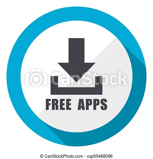 Free apps blue flat design web icon - apps symbol