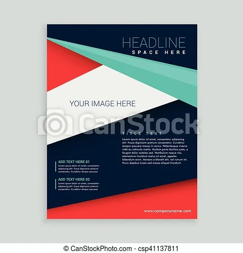 Geometric poly shape business brochure flyer template