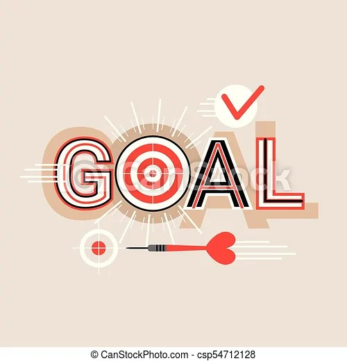 Goal word creative graphic design modern business concept over