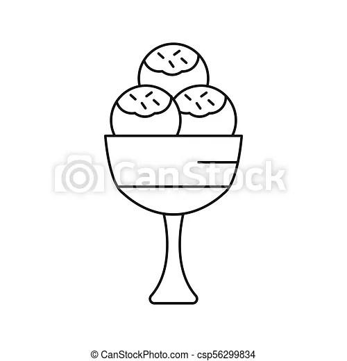 Ice cream icon, outline style Ice cream icon outline ice