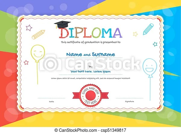 certificate template kids - Ozilalmanoof - certificate template for kids