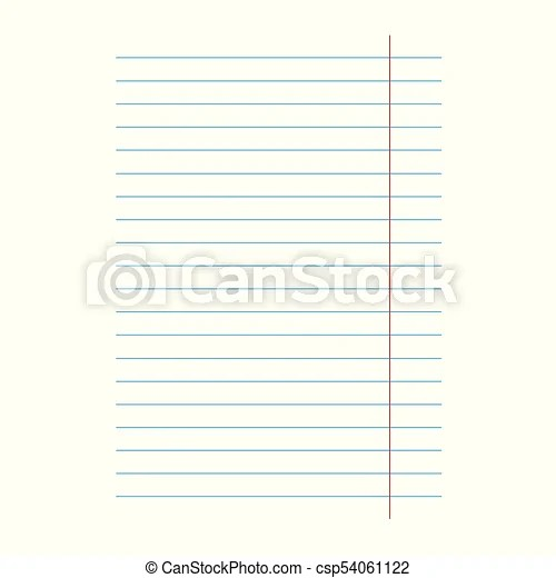 Notebook lined paper sheet background- vector illustration vector
