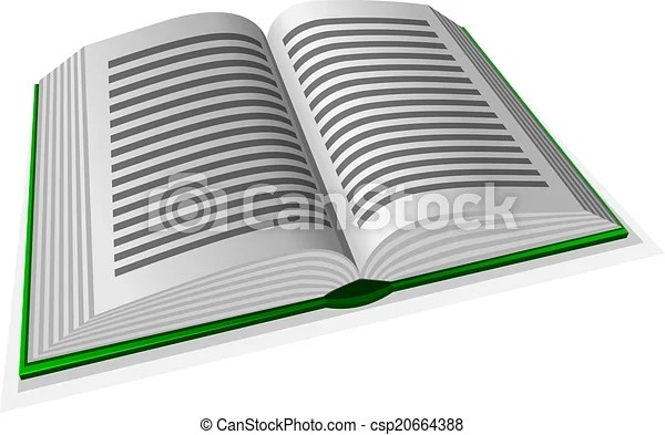 Vector illustration of green opened book with line vector - Search - opened book