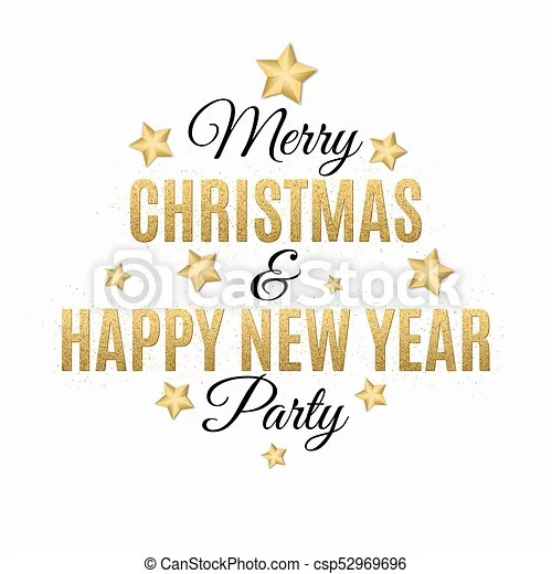 Poster for christmas and new year party invitation card eps