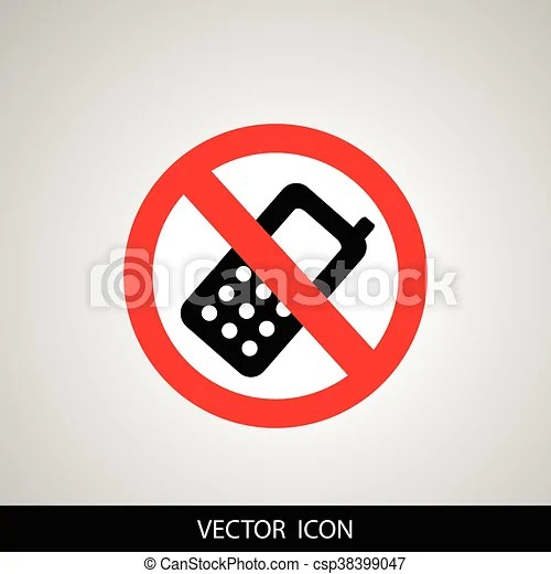 Prohibited phone Prohibited round icon turn off cell phone sign on - Turn Off Cell Phone Sign