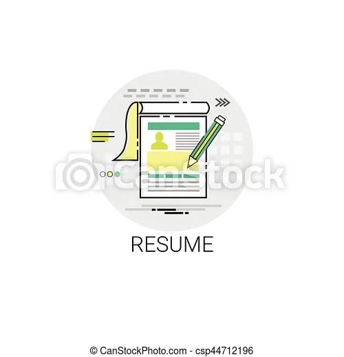 Resume cv form job vacancy recruitment application icon eps