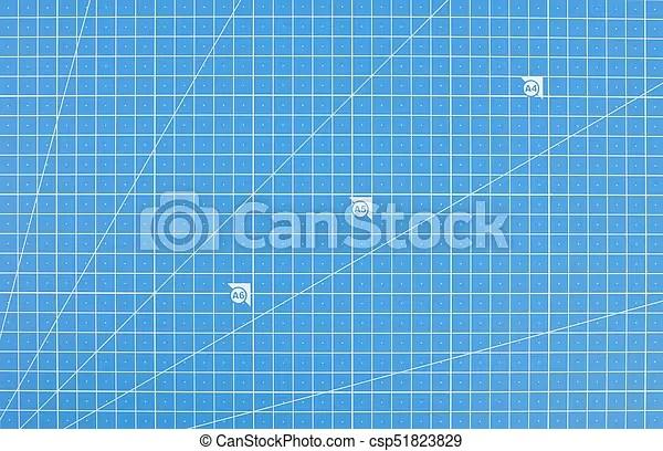 Scientific engineering grid paper blueprint background Scientific