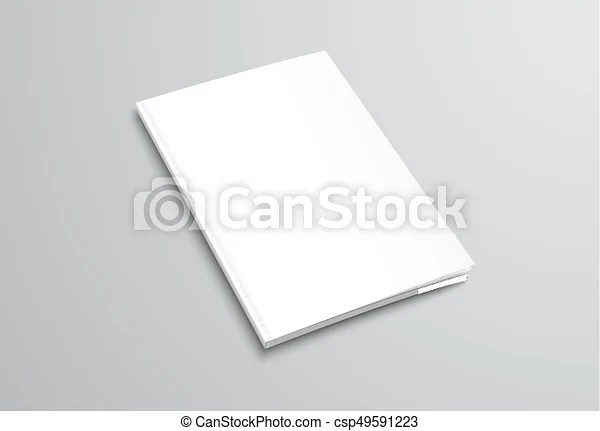 Template of white blank brochure on gray background mockup
