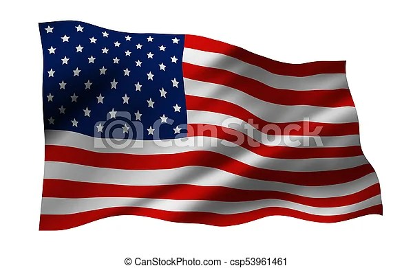 Usa or america flag isolated on white background stock image - America Flag Background