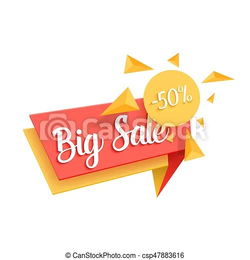 Illustration of vector sale tag template big sale promotion - sale tag template