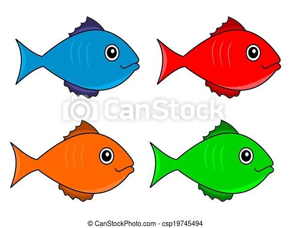 Several fish color