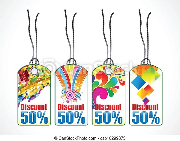 Abstract sale tag template vectors illustration - Search Clipart - sale tag template