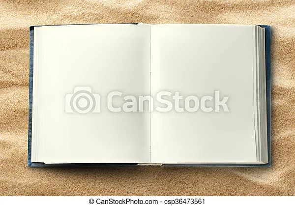 Blank opened book as background in closeup stock image - Search - opened book