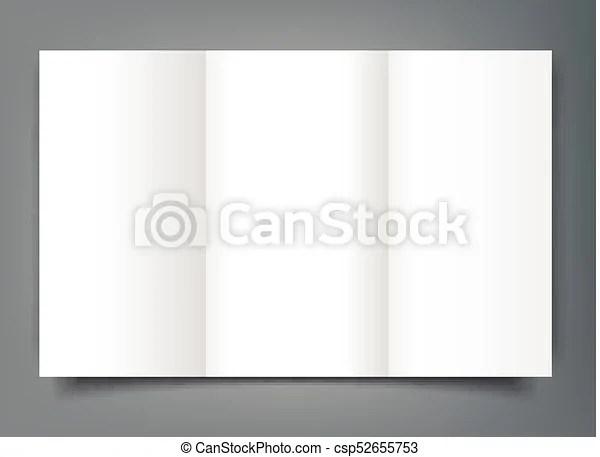 Blank tri fold brochure mockup cover template isolated clipart - blank tri fold brochure template