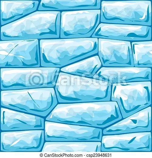 Blue ice seamless pattern Vector illustration of blue ice