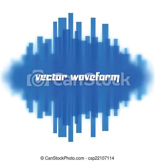 Blurred waveform made of lines Blurred vector waveform made
