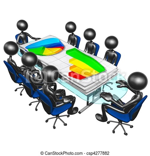 Business reports meeting A concept and presentation clip art