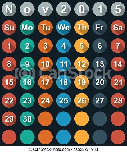 2018 calendar november with large numbers calendar numbers