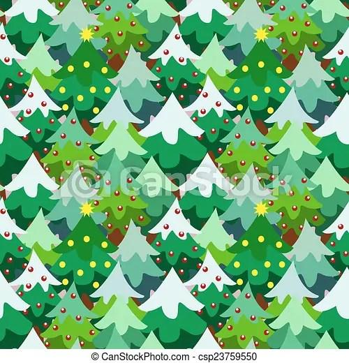Christmas theme pine tree forest seamless pattern background cartoon - christmas theme background