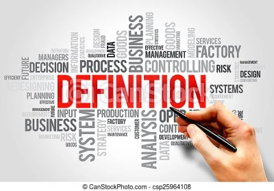 Definition word cloud, business concept.