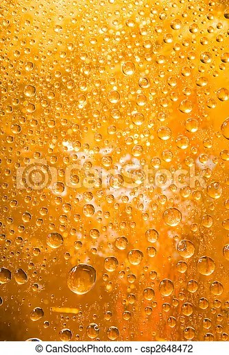 Golden water droplets background close up of water drops stock - water droplets background