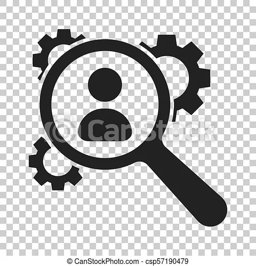 Human resources, recruitment, hr management vector icon in