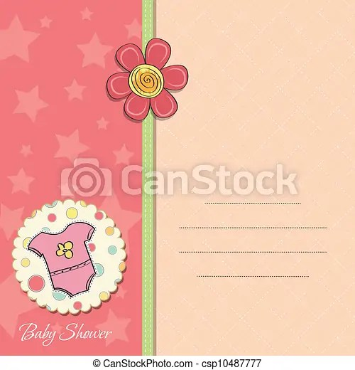 New baby girl announcement card vectors illustration - Search