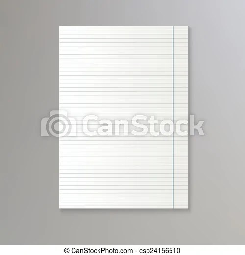 Sheet of lined paper vector notebook paper background vector clip - line paper background