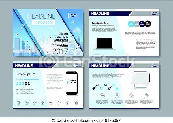 Template design brochure, annual report, magazine, poster, eps - annual report template design