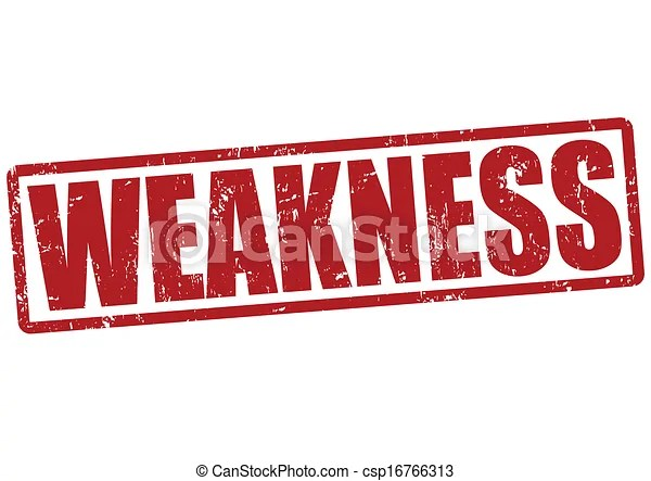Weakness stamp Weakness grunge rubber stamp on white, vector