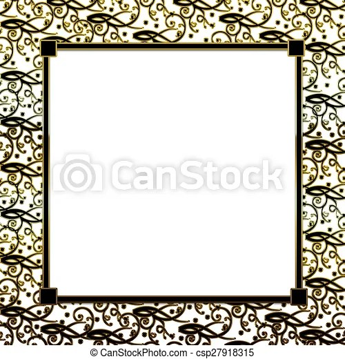 Background gold black border Square black/gold background with - black border background