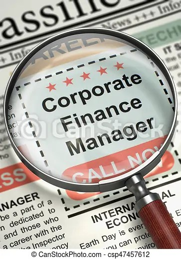 Corporate finance manager join our team 3d Newspaper with