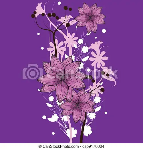 Purple floral wallpaper Floral designs for wallpaper, background